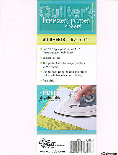 Quilter's Freezer Paper Sheets - 30 sheets