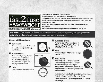 "Fast 2 Fuse Heavyweight Interfacing - 20"" Wide"