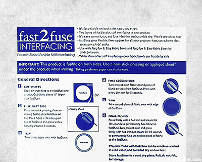"""Fast 2 Fuse Interfacing - 20"""" Wide"""