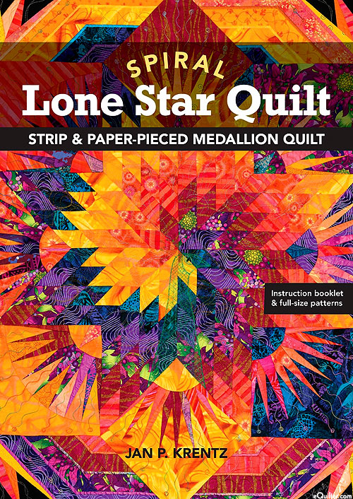 Spiral Lone Star - Project Book & Applique Pattern by Jan Krentz