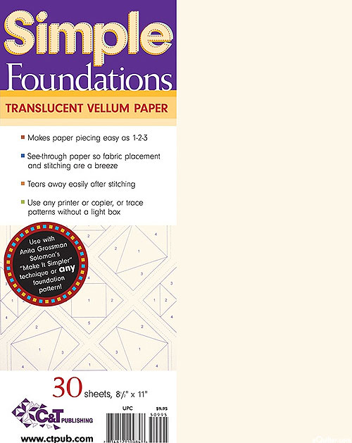 Simple Foundations - Translucent Vellum Paper for Paper Piecing