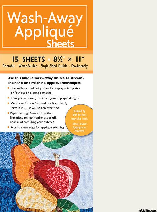 Wash-Away Applique Sheets