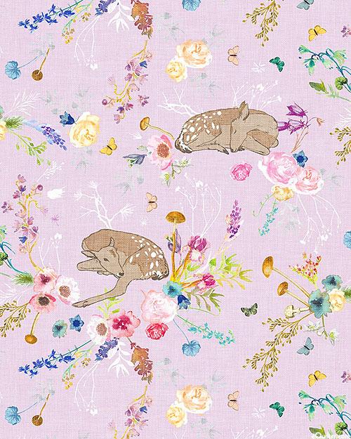 Forest Glade - Sleeping Fawn - Lavender - DIGITAL PRINT
