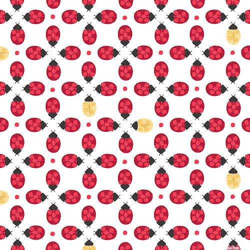 Ladybug Mania - Luxurious Ladybug - White