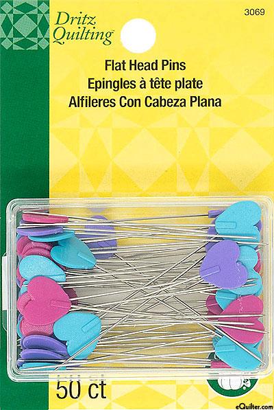 Flat Heart Pins