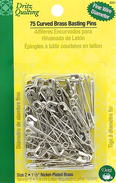 Curved Basting Pins - Size 2 - 75 Count
