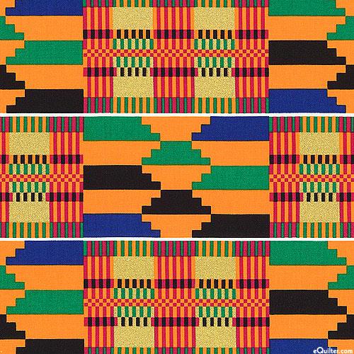 African Prints - Akan Tapestry - Orange/Gold