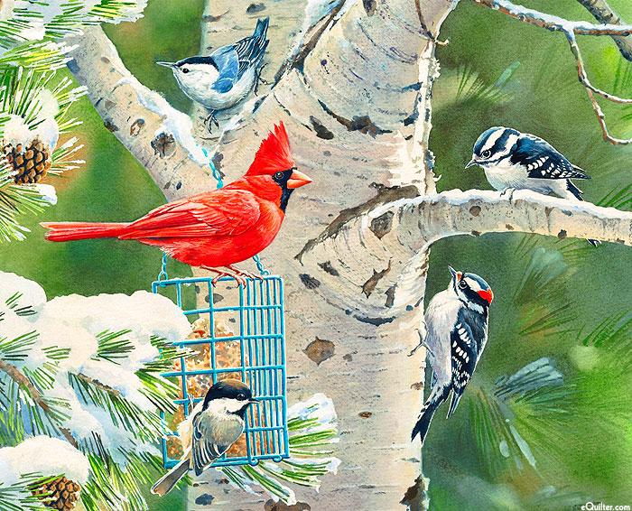 "Birds & Snowy Trees - 36"" x 44"" Panel - Digital"