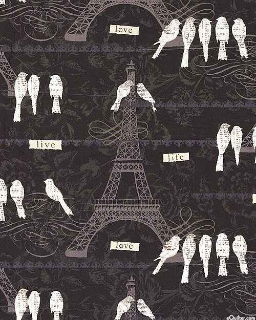 Love Paris - French Songbirds - Black