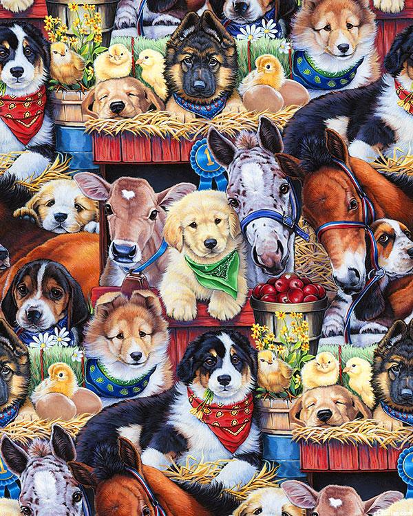 Animal Love - Puppies at the Barn - Multi