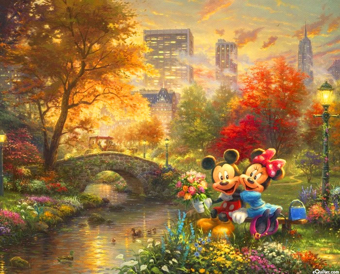 "Disney Dreams - Central Park - 36"" x 44"" PANEL - DIGITAL"