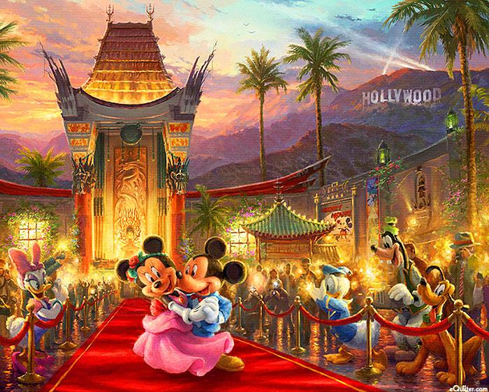 "Disney Dreams - In Hollywood - 36"" x 44"" PANEL - DIGITAL PRINT"
