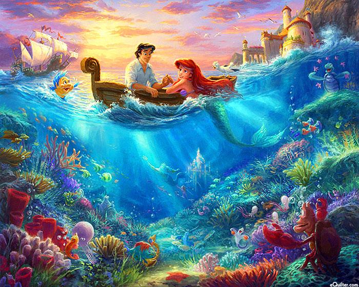 "Disney Dreams - Little Mermaid - 36"" x 44"" PANEL - DIGITAL"