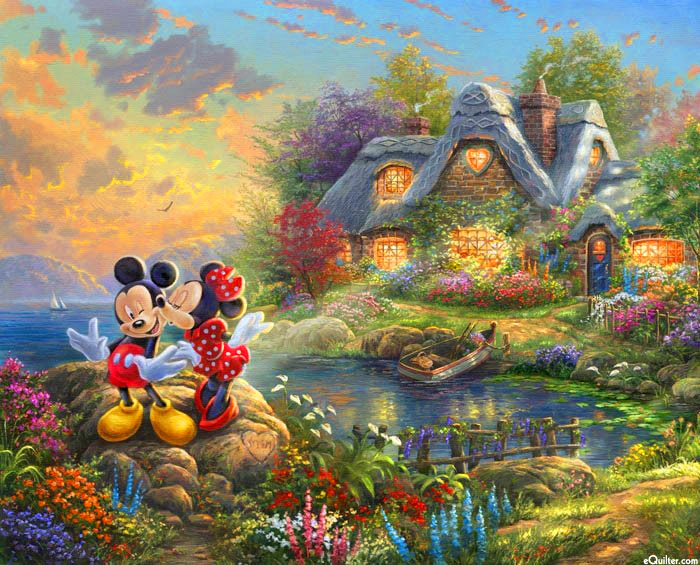 "Disney Dreams - Sweetheart Cove - 36"" x 44"" PANEL - DIGITAL"