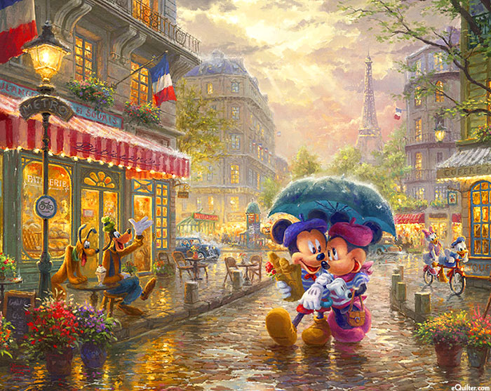 "Disney Magic - In Paris - 36"" x 44"" PANEL - DIGITAL"