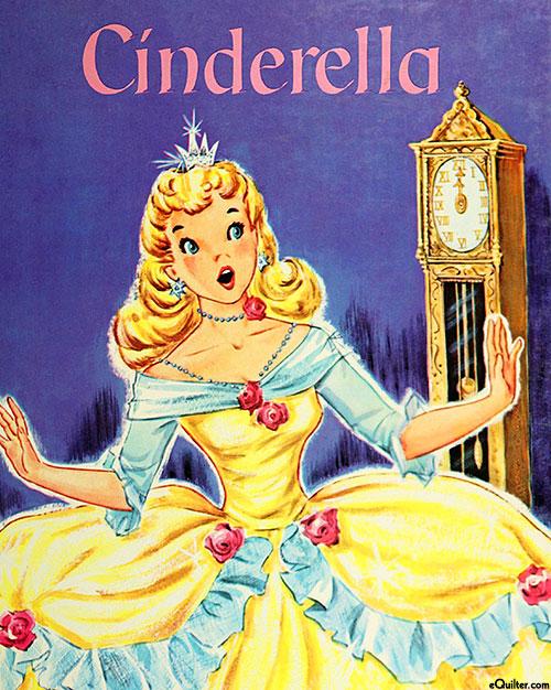 """Vintage Storybooks - Cinderella - 36"""" x 44"""" PANEL - DIGITAL"""