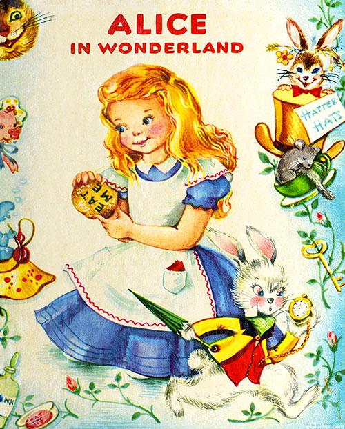 """Vintage Storybooks - Alice - 36"""" x 44"""" PANEL - DIGITAL"""