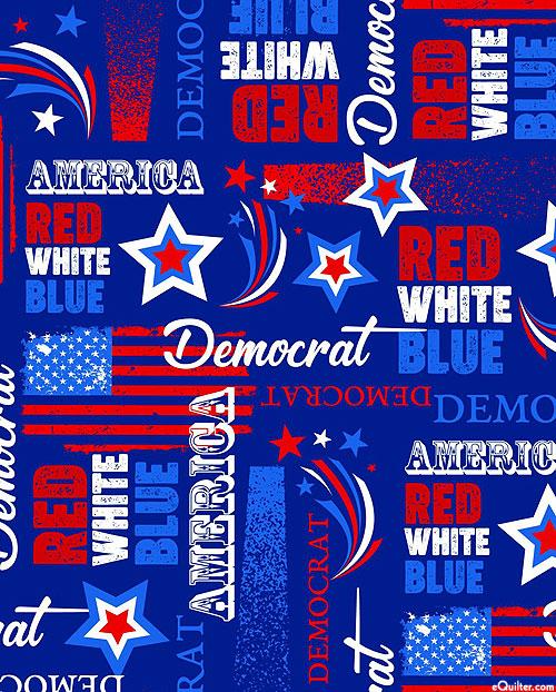 American Democrat - Royal Blue - DIGITAL PRINT