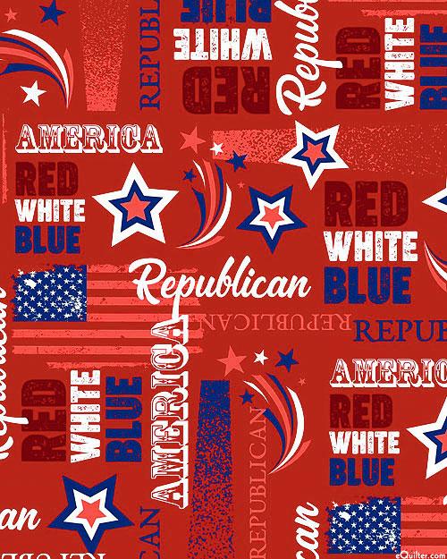 American Republican - Dk Red - DIGITAL PRINT