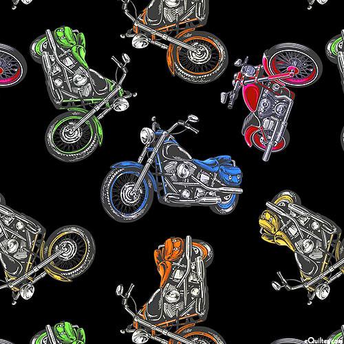 Coast to Coast - Motorcycle Journey - Black - DIGITAL PRINT