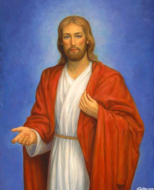 "Jesus - Christ the King - Royal Blue - 36"" x 44"" PANEL"
