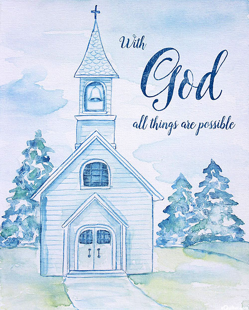 """With God All Things Are Possible - 36"""" x 44"""" PANEL"""