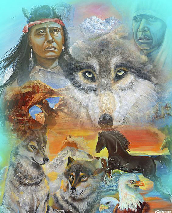 "Native American - The Spirit is in the Rocks - 36"" x 44"" PANEL"