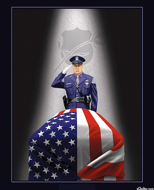 "Act of Service - End of Watch - Black - 36"" x 44"" PANEL"