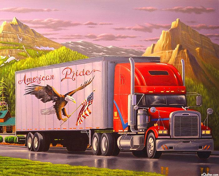 "Truckin - American Pride - 36"" x 44"" PANEL - DIGITAL PRINT"