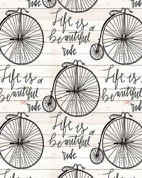 Beautiful Ride - Vintage Bicycle Ride - Eggshell
