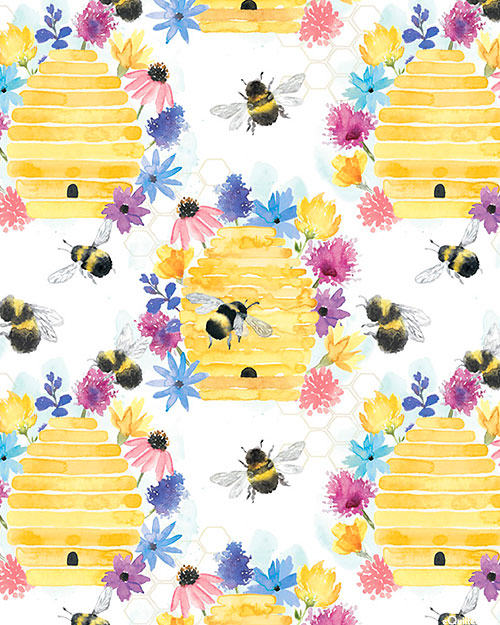 Bee Harmony - Home Is Where the Honey Is - White