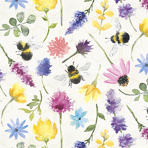 Bee Harmony - Busy Busy Bees - White