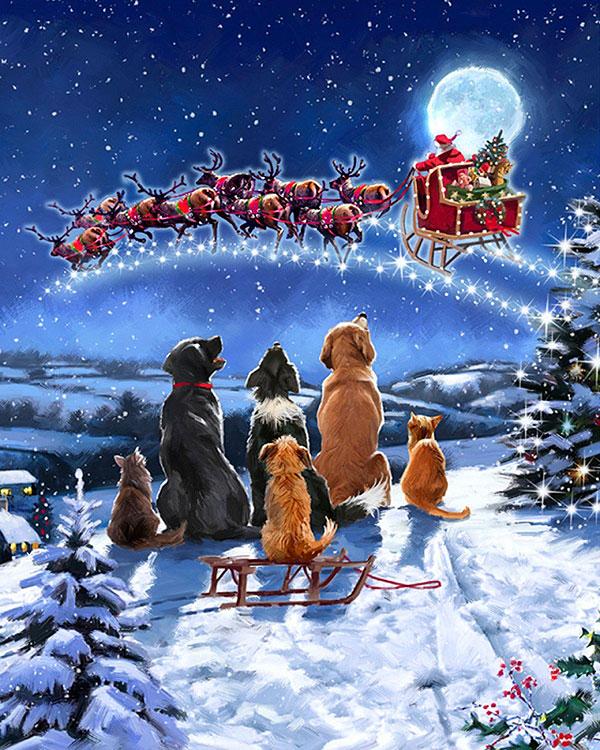 "Holiday Spirit - Midnight Meeting - 36"" x 44"" PANEL - DIGITAL"