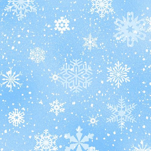 Landscape Medley - Frozen Frosty Snowflakes - Powder Blue