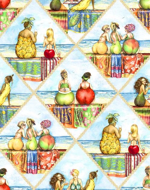 More Fruit Ladies - Perrier & Pearrieres - Sky Blue