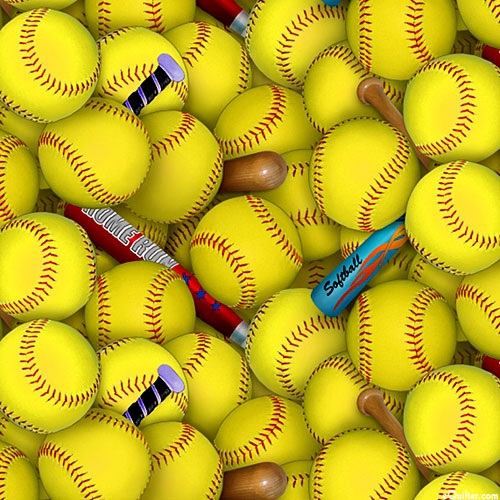 Sports - Buried in Softballs - Citrus Yellow