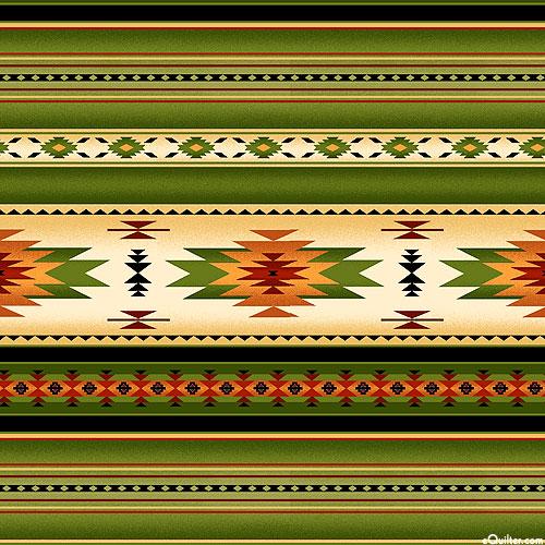 Tucson - Natural World Stripe - Pinyon Green