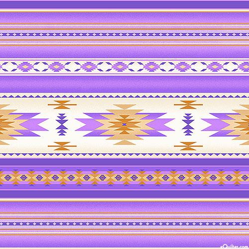 Tucson - Natural World Stripe - Orchid Purple