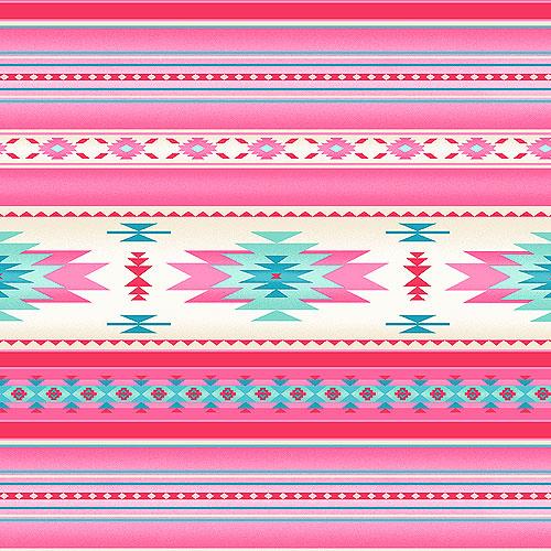 Tucson - Natural World Stripe - Cactus Flower Pink