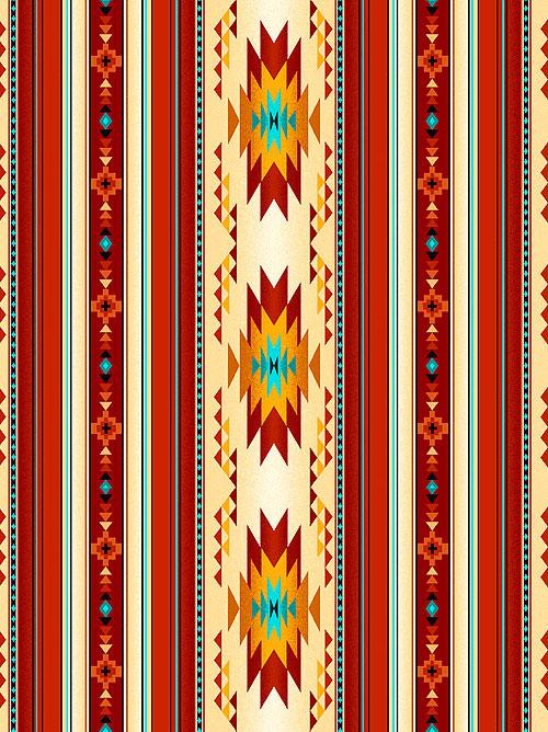 Tucson - Running Horizon Stripe - Cinnamon Red