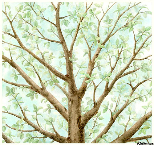 "Magic Tree - Welcoming Branches - Powder Blue - 24"" x 44"" PANEL"