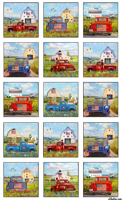 """American Spirit - Truck Collection - White - 24"""" x 44"""" PANEL"""