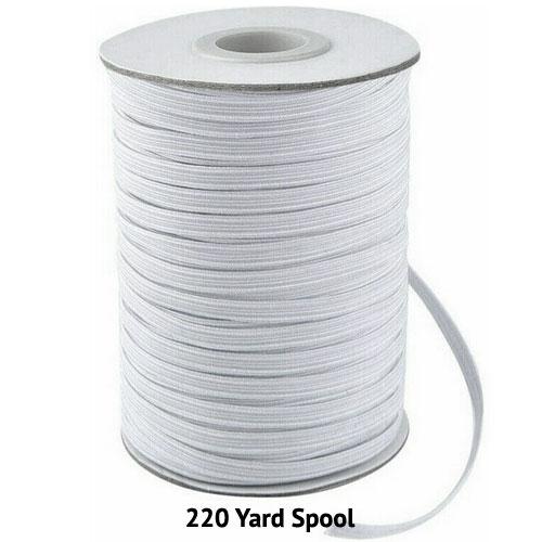 """Elastic - Braided Elastic - 1/4"""" WIDE - 220 YD SPOOL"""