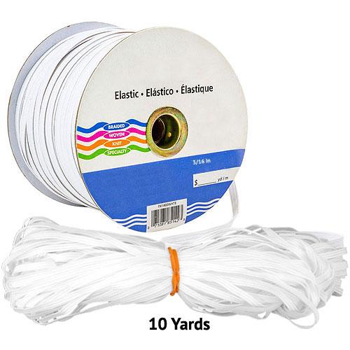 """Elastic - Braided Elastic - 1/4"""" WIDE x 10 YARD Bundle"""