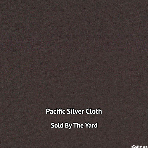 "Pacific Silver Cloth - Dark Brown - 40"" WIDE - SOLD BY THE YARD"