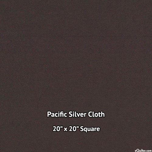 """Pacific Silver Cloth - Dark Brown - 20"""" x 20"""" SQUARE"""