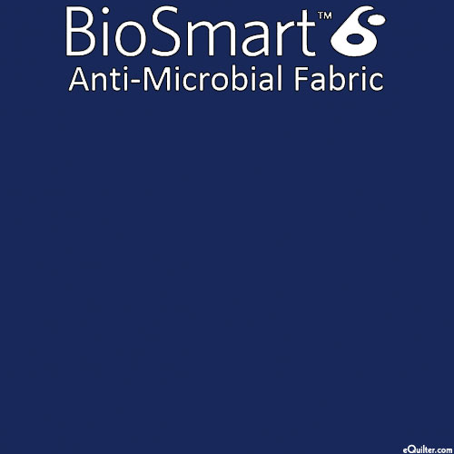 """BioSmart Anti-Microbial Fabric - Navy - COTTON/POLY - 60"""" WIDE"""
