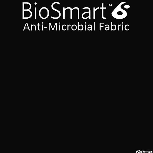 "BioSmart Anti-Microbial Fabric - Black - COTTON/POLY - 60"" WIDE"