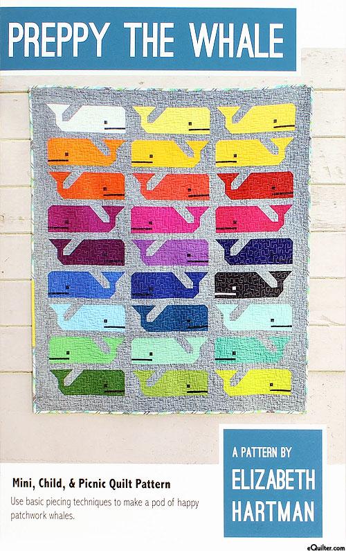 Preppy the Whale - Quilt Pattern by Elizabeth Hartman