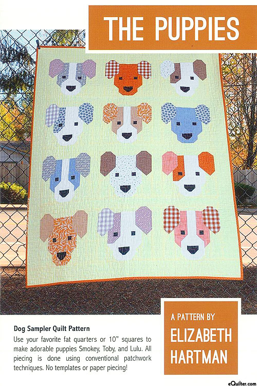 The Puppies - Quilt Pattern by Elizabeth Hartman